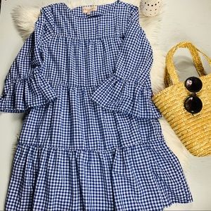 Philosophy gingham bell sleeve dress size S